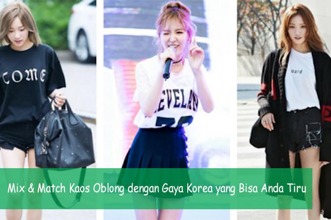 Mix & Match Kaos Oblong dengan Gaya Korea yang Bisa Anda Tiru